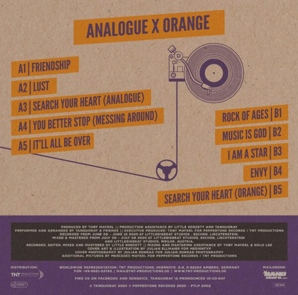 Tanquoray - 'analogue x orange' - Vinyl